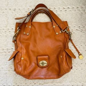 Authentic MULBERRY Apricot Leather Satchel